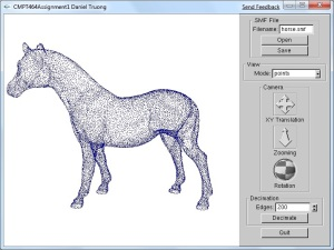 Simple Mesh Viewer with Mesh Decimation
